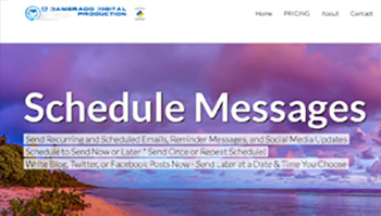 ScheduleMessage is a web based communications platform designed and produced by Jason Rosette