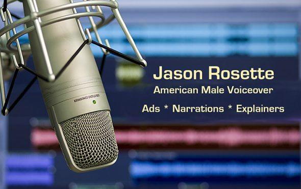 Voiceover reel for Jason Rosette: American male accent voiceover in the USA, Asia, and beyond :)