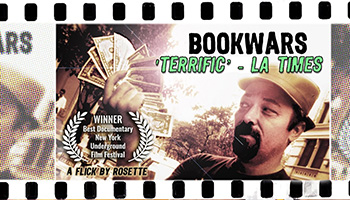 'BookWars' is an award winning feature documentary which was written, directed, edited, narrrated, and co-produced by Jason Rosette
