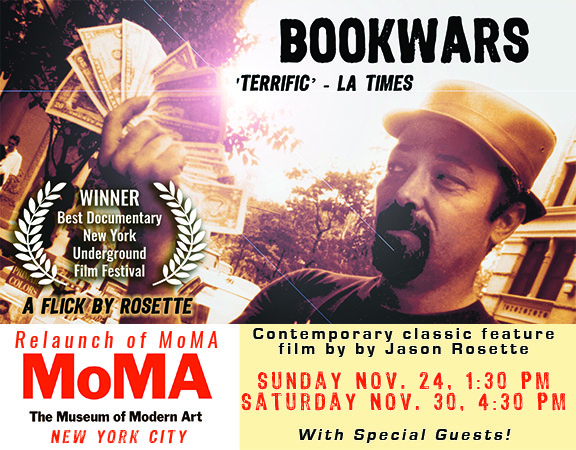First feature by writer-director Jason Rosette, 'BookWars', screening at MoMA NYC in November 2019