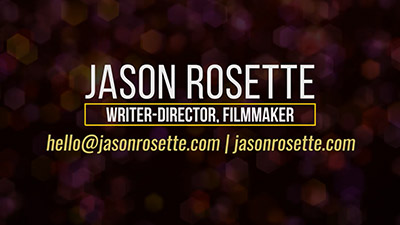 Writer-Director Reel for Jason Rosette (2020 Director Showreel)
