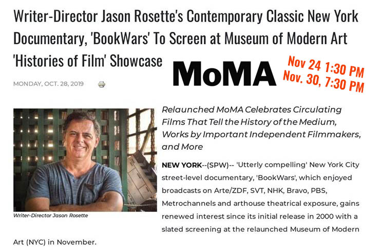 Writer-Director Jason Rosette's film, 'BookWars' screens at the Museum of Modern Art 'Histories of Film' Showcase