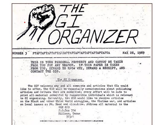 The GI Organizer - Antiwar Underground GI Publication from the Vietnam War era