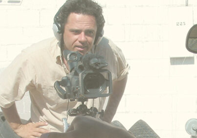 Writer-director Jason Rosette shooting a scene from 'Lost in New Mexico'